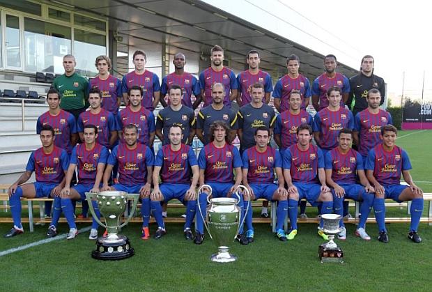 Foto Oficial Del Barcelona 2011 2012