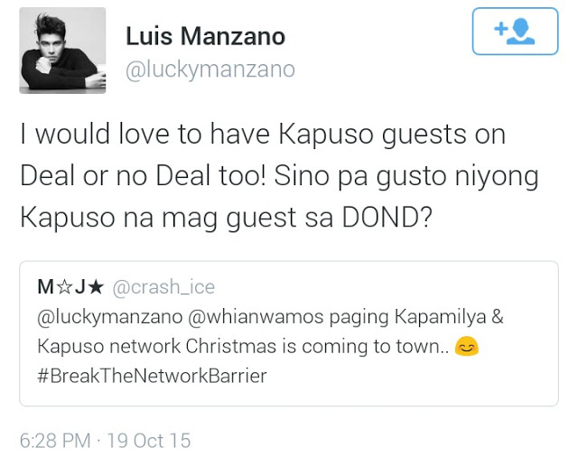 Luis Manzano Admits Wanting Kapuso Stars To Guest On Deal Or No Deal!
