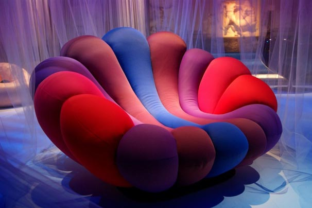 Colorful Furniture Design Anemone-shaped Lounge Chair