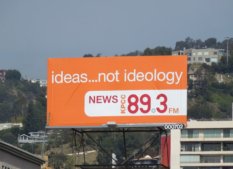 Ideas not Ideology radio billboard