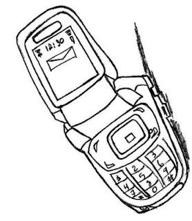 Desenho como desenhar telefones pintar e colorir
