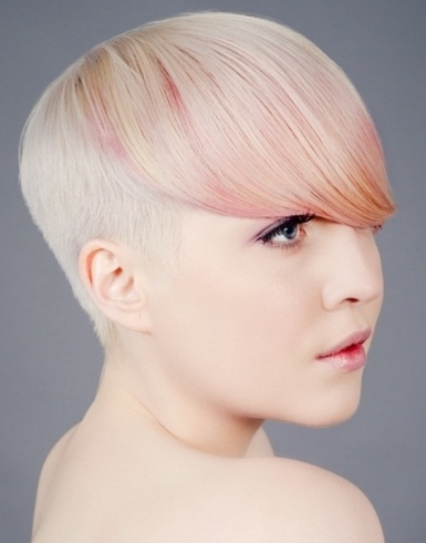 Chic Light Pink Hair Highlights 2014