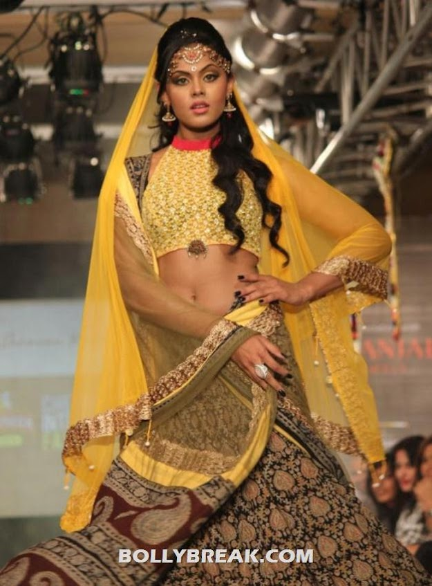 Karthika Navel Show at Ramp walk at  CIFW Fashion Show