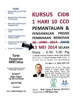 Kursus 1 Hari 10 CCD 13 Mei 2014 Terkini