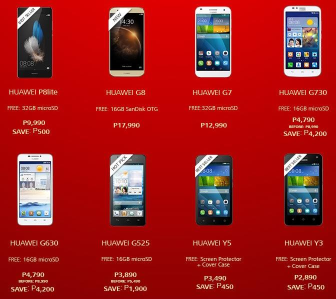 huawei phones price list. huawei android smartphones/tablet christmas 2015 price drop and freebies phones list u