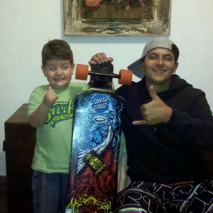 Meu filho Thiago e meu neto Arthur!!!