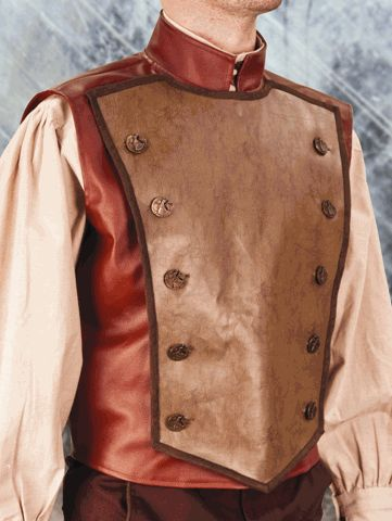 Faux Leather Steampunk Vest for Men