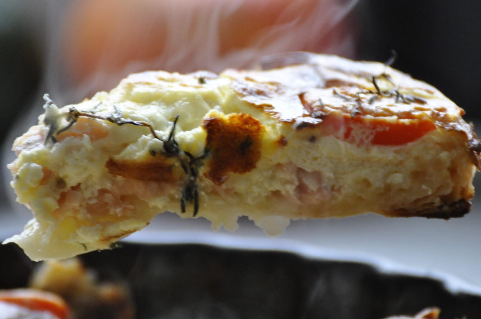 Szybko Tanio Smacznie - Tarta z wędzonym łososiem