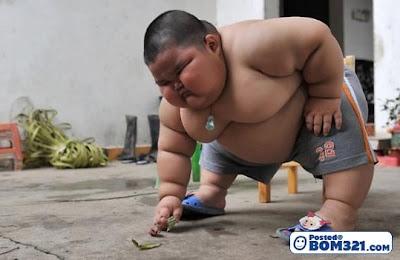 Budak 3 Tahun Seberat 60 Kilogram