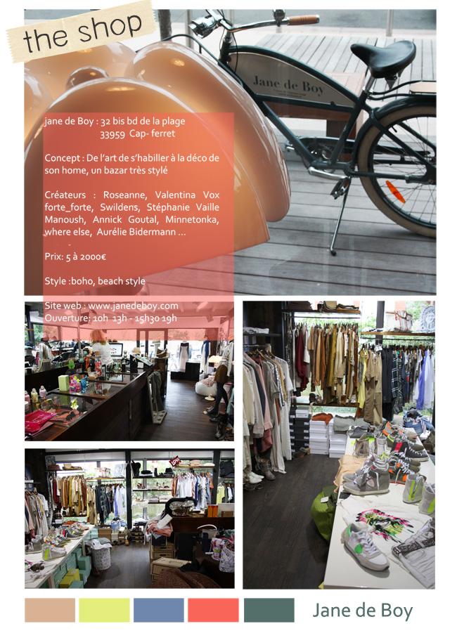 boutique Jane de Boy Cap Ferret