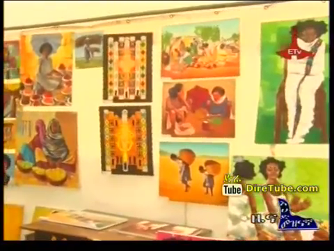 Art gallery in Taitu Hotel, Addis Ababa