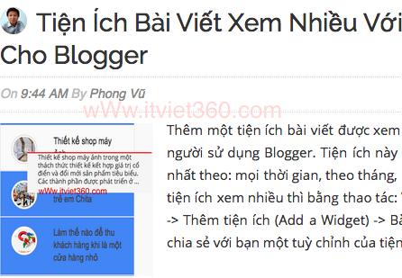 Thêm Author Avatar bên cạnh tiêu đề bài viết trong blogger