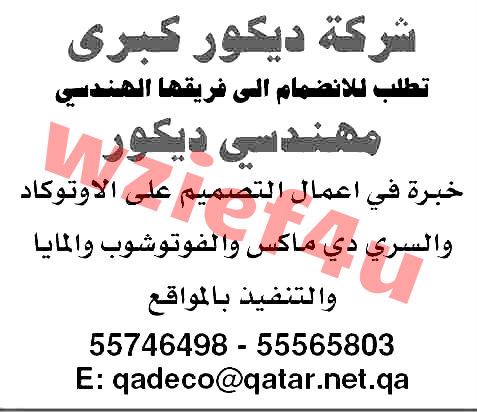 وظائف جريدة الشرق الوسيط القطرية يوم الخميس7/2/2013 | وظائف قطر 7 فبراير 2013