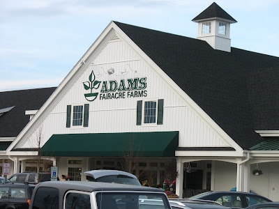 Parking lot view of Adams Fairacre Farms on Route 9 in Wappinger Falls, NY