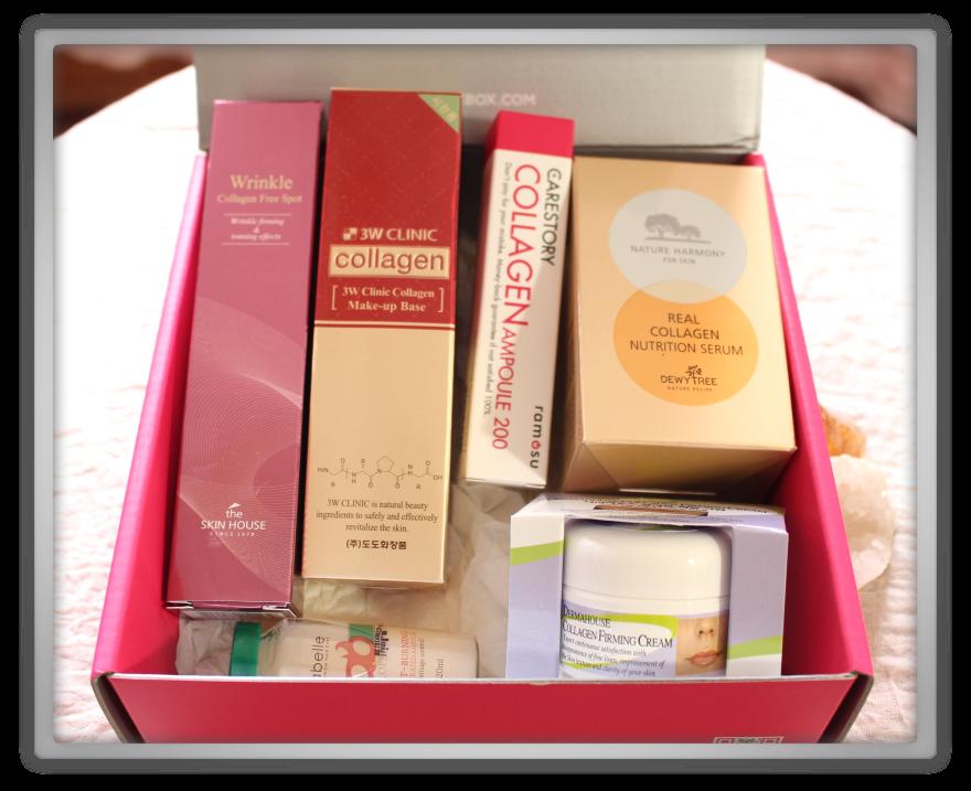 겟잇뷰티박스 by 미미박스 memebox beautybox Superbox #33 Collagen box unboxing review preview look inside