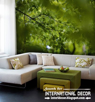 wall murals wallpaper, wall covering ideas, living room wall mural