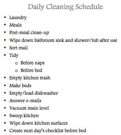 How To Keep A Clean House keeping a clean house