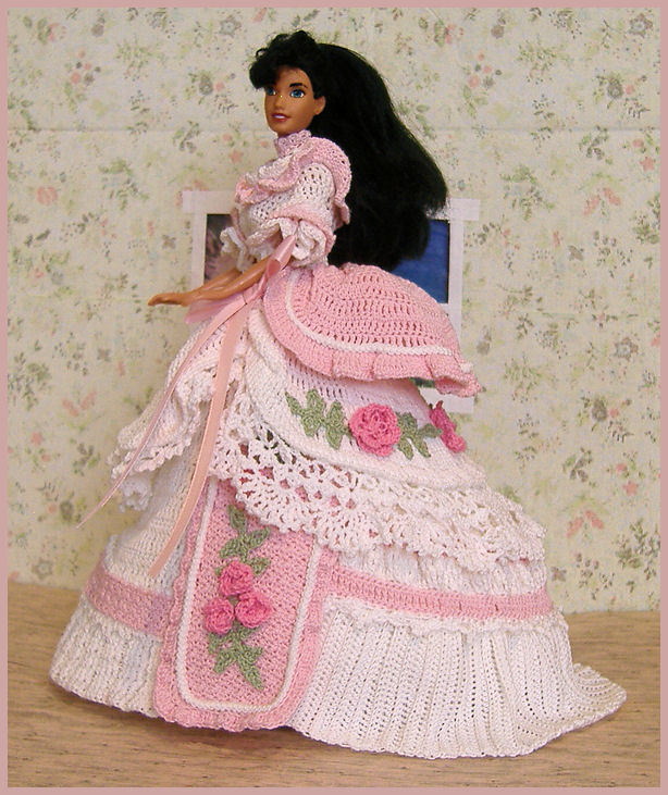 Crochet Pattern American Girl Doll : Hollys Crafts Blog: White and Pink Crocheted Barbie Bed ...