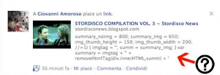 errore di condivisione su facebook da blogger