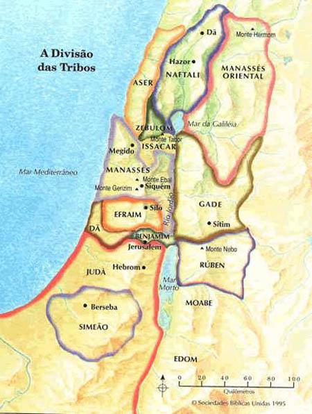 Mapas do Antigo Testamento Parte 1  Shem Israel