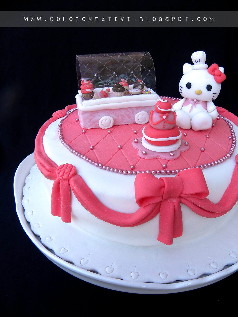 torta hello kitty candy shop torte cakes tutorial foto food. Black Bedroom Furniture Sets. Home Design Ideas
