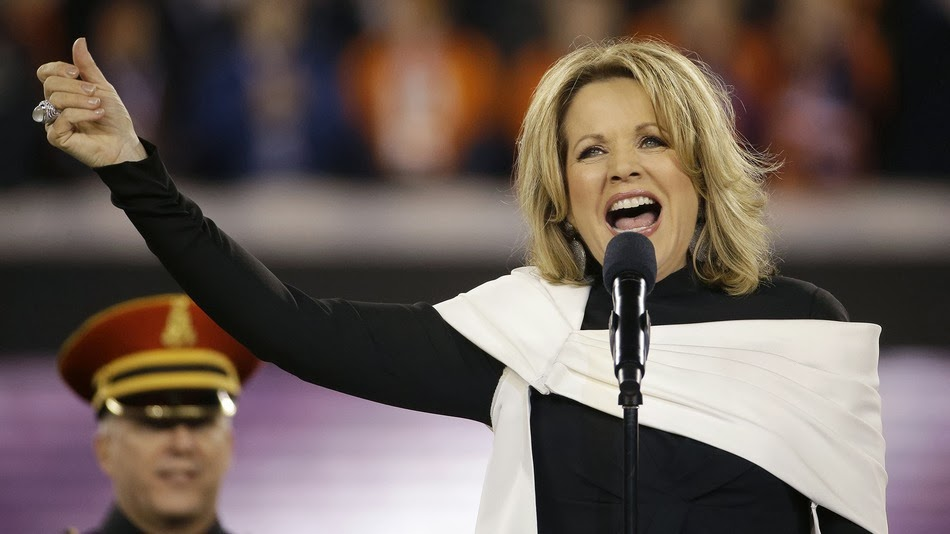 Super Bowl 2014:Renée Fleming Stunningly Sing National Anthem  at Bowl XLVIII