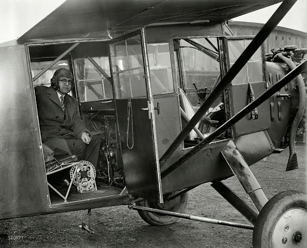 1929. Washington, D.C., or vicinity. Man in airplane