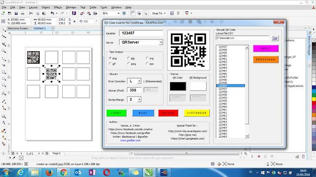 QR Code Generator for CorelDraw Free