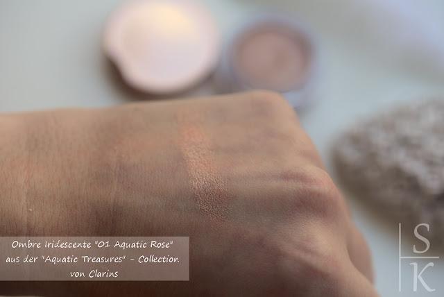 Clarins - Aquatic Treasures Summer MakeUp Collection 2015, Ombre Iridescente 01 Aquatic Rose