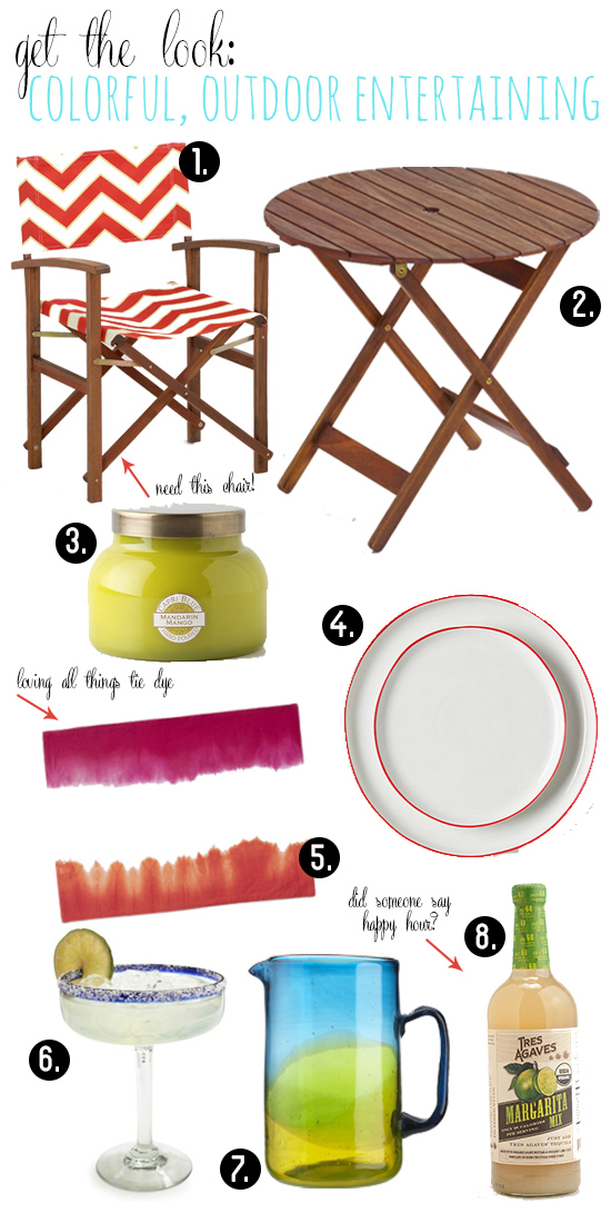 La Petite Fashionista: Get the Look: Colorful, Outdoor Entertaining