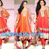 Shonali Nagrani in Orange Color Organza Salwar kameez at CPAA Fashion Show