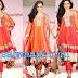 Shonali Nagrani in Orange Color Organza Salwar kameez at CPAA Fashion Show