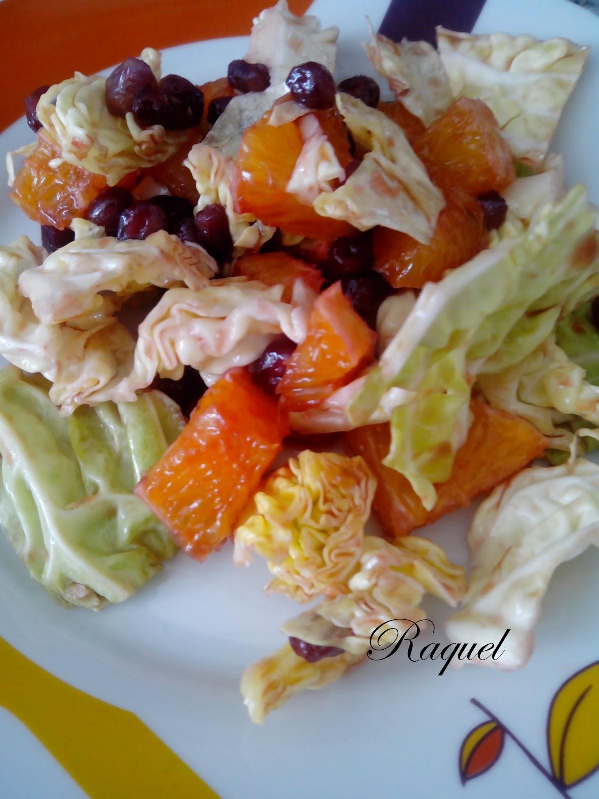 Ensalada De Col Naranja Y Granada