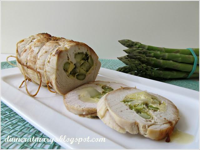 arrosto ripieno agli asparagi e caciocavallo