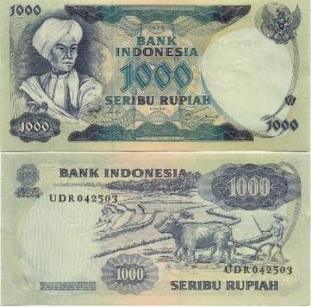 Uang Kertas 1.000 Rupiah 1975