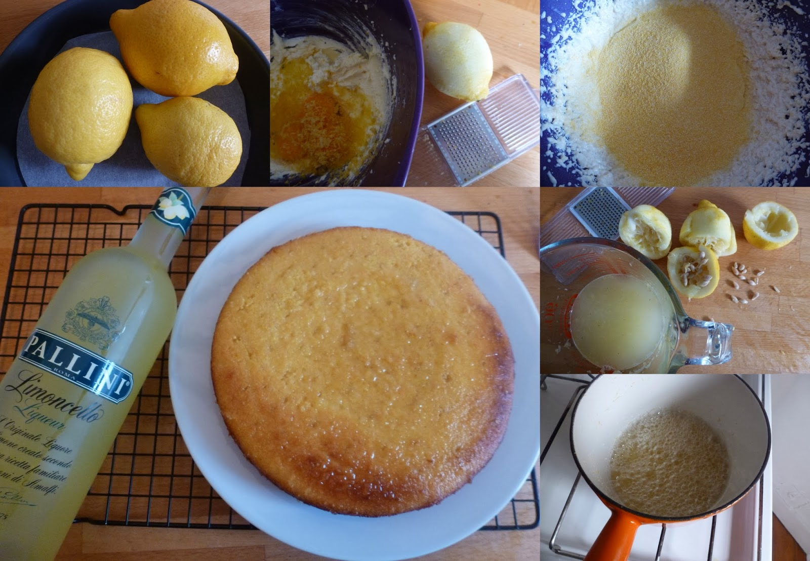 Lemon Polenta Cake Without Butter