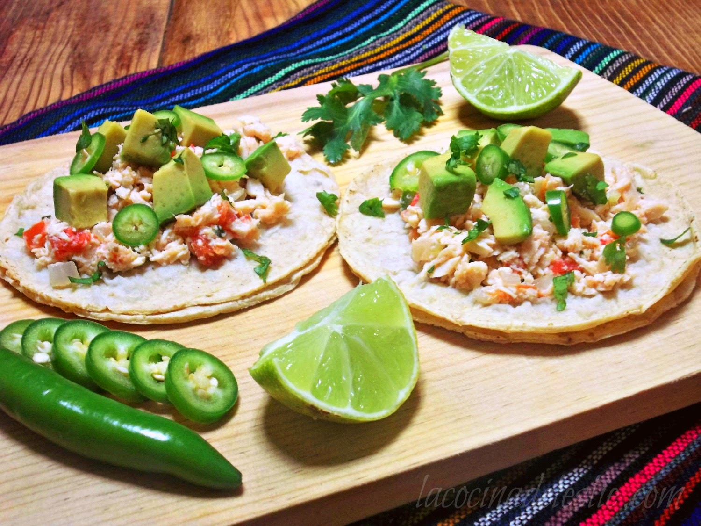 Tacos de Pollo a la Mexicana - lacocinadeleslie.com