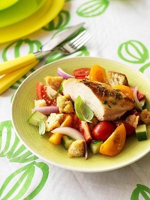 Pechuga de pollo al horno con verduras frescas como - Cocinar verduras al horno ...