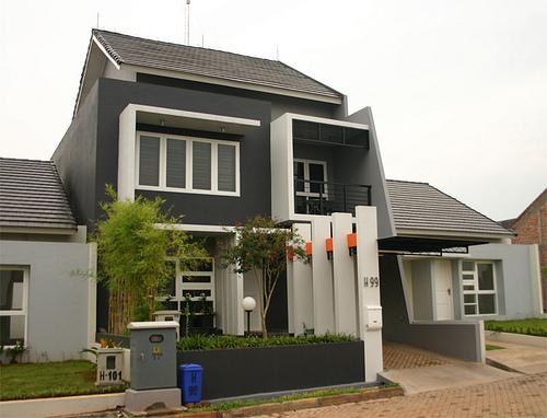 desain rumah minimalis modern yang unik dimana atap rumah hampir