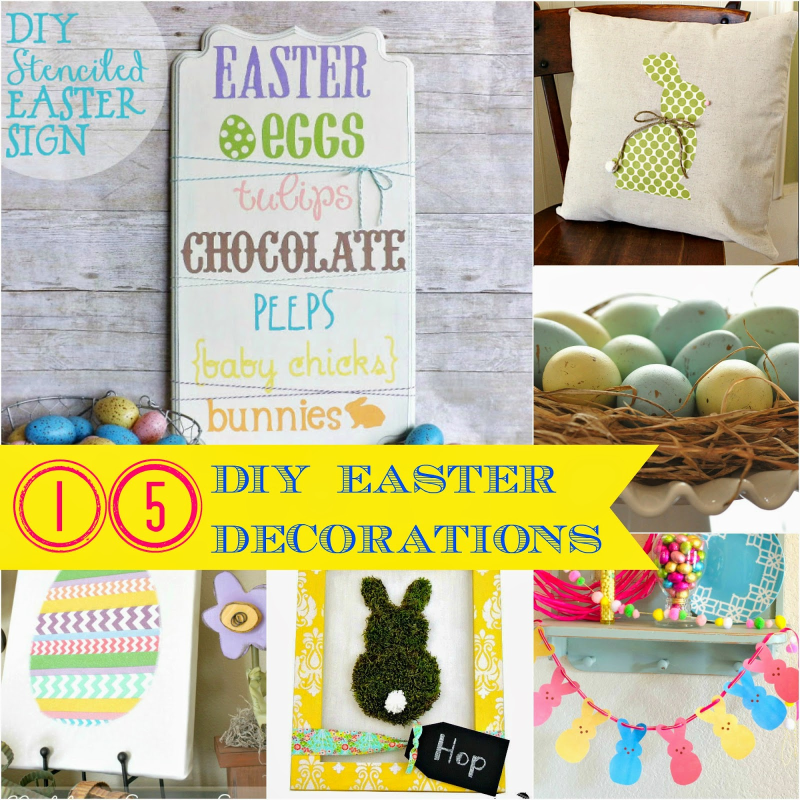 I Dig Pinterest Easter Link Party Features 15 Diy Easter Decorations For The Home