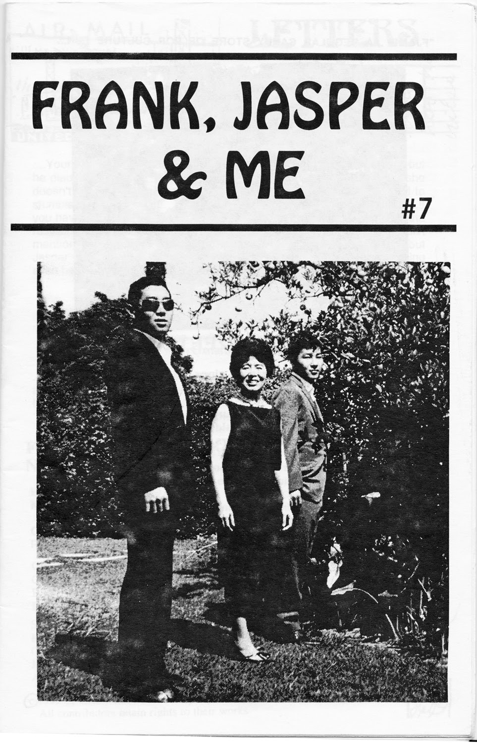 Frank, Jasper and Me Zine Cover from Ponyboy Press from 1999