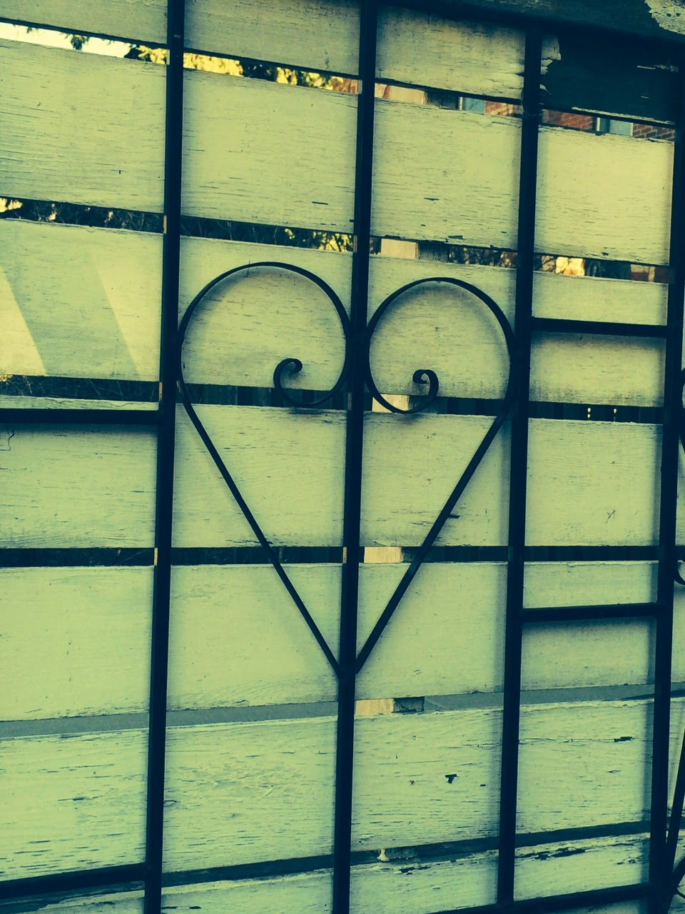 heart on a fence