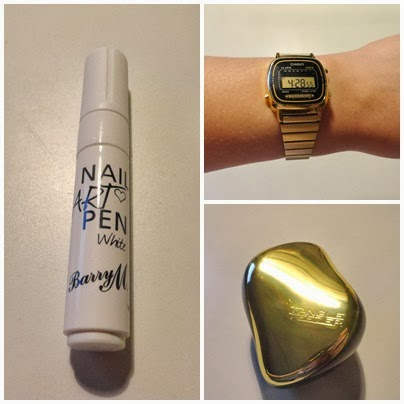 Clothes & Dreams: Shoplog: Tangle Teezer, Casio and Barry M: collage of my purchases