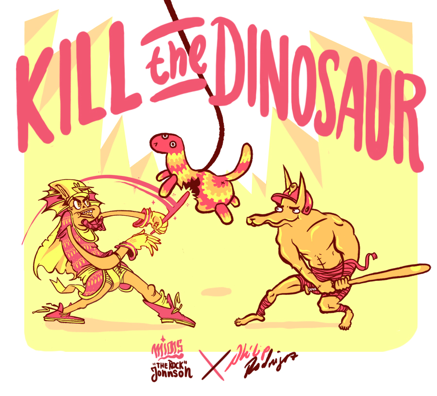 "Kill The Dinosaur! - the art of Philip Rodruigez and Mias ""The Rock"" Johnson"