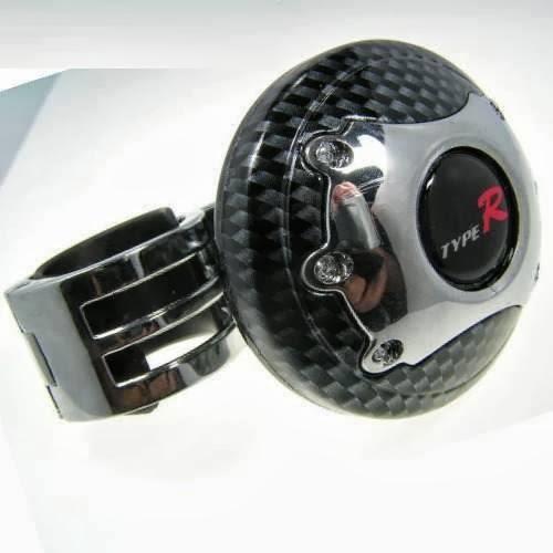 Manopla Mini Volante Pomo Giratorio Carbono - R$ 55,00