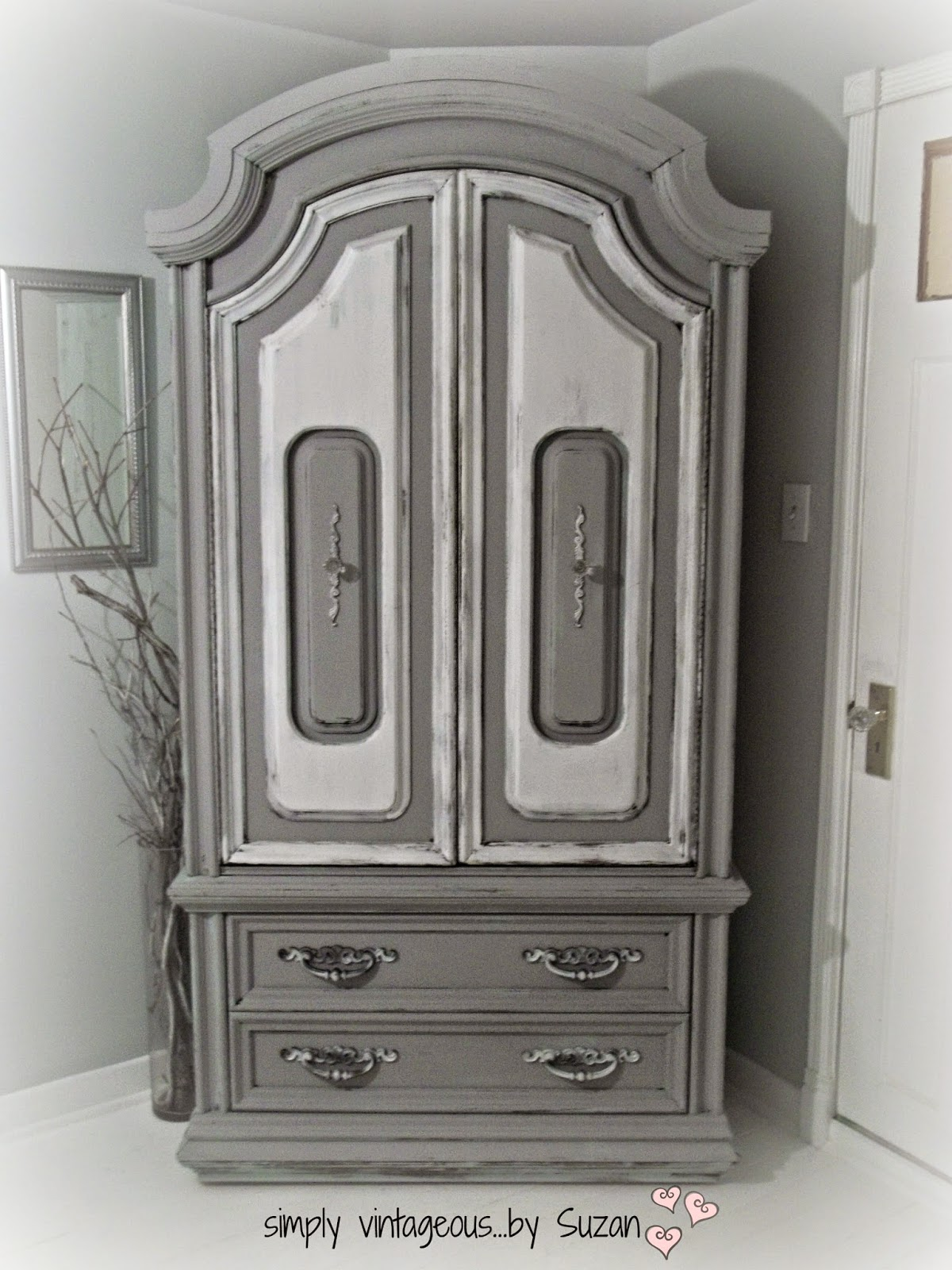 Dresser makeover - Paris Grey Chalk Paint