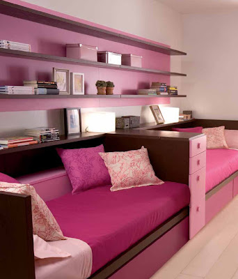 cuarto rosa para hermanas