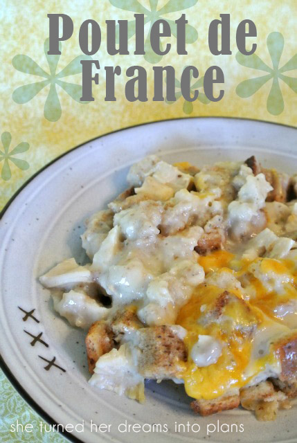 Poulet de France: a quick and easy chicken casserole