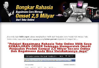 Cara Membuat Toko Online Beromzet Rp.2.5  Miliar !