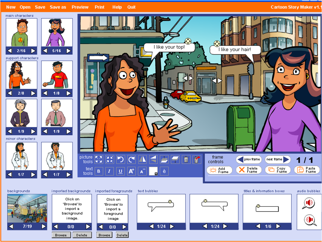 Cartoon Classroom Window - Viewing Gallery